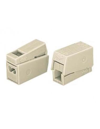 Borne pour luminaires 2.5mm, 2 rigides - 1 souple, 105°, blanc - 100 pièces