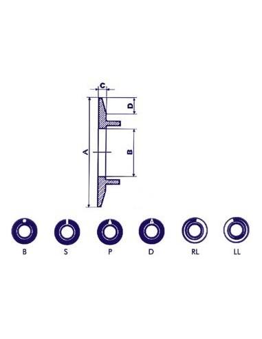 Cadran pour bouton 21mm (noir - ligne blanche)