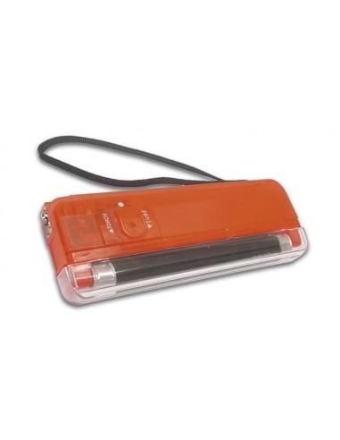 Lampe uv miniature + torche / rouge