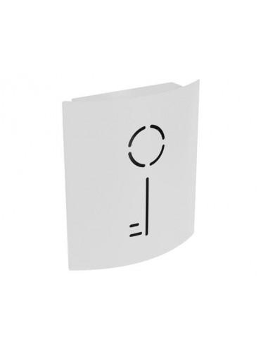 Armoire à clés - 215 x 63 x 245 mm - blanc