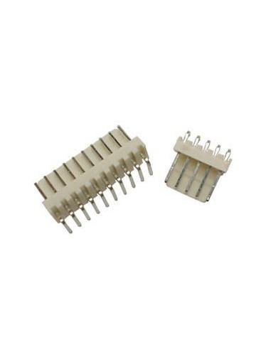25 connecteur coude avec cable pour ci - male - 6 contacts