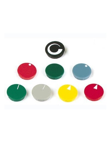 Lid for 15mm button (black - white line)