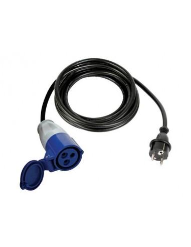 Cable adaptateur avec fiche schuko vers prise cee - 3 m