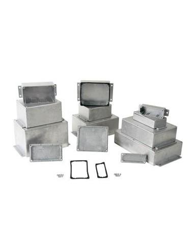 Boîtier étanche en aluminium coulé avec bride