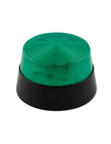 Flash stroboscopique à led - vert - 12 vcc - ø 77 mm