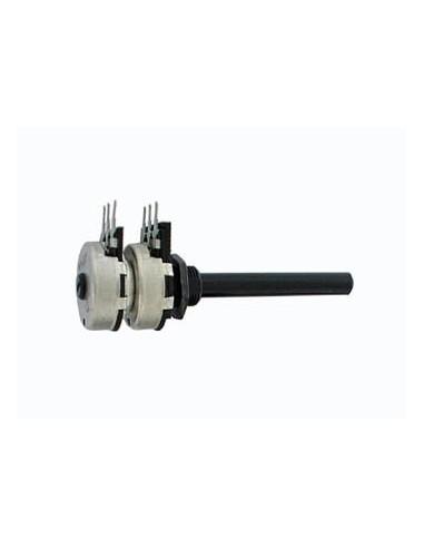 Potentiometre log stereo 470k