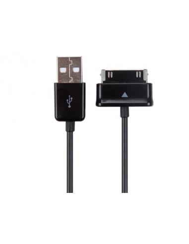 Cable usb 2.0 vers connecteur à 30 broches pour samsung® galaxy tab - noir - 1 m