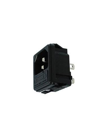 Embase male clipsable pour chassis - avec porte-fusible
