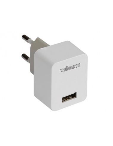 Chargeur avec connexion usb 5 v - 1.0 a