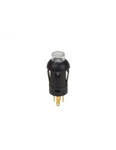 Poussoir - miniature - rond - spst (allumé-éteint) - 1p - avec cables - led verte
