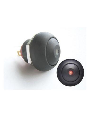 Bouton-poussoir miniature unipolaire à led rouge off-(on)