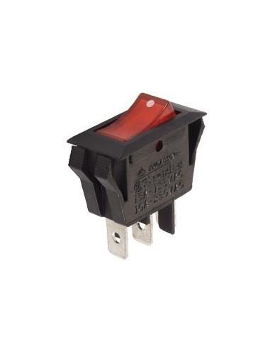 Interrupteur de puissance a bascule 10a-250v spst on-off - avec temoin neon orange