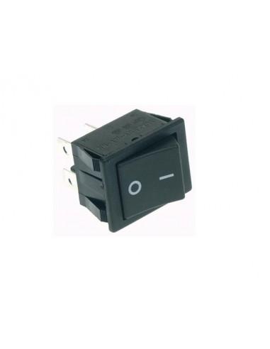 Interrupteur de puissance a bascule 10a-250v dpst on-off - capuchon noir 'i/o'