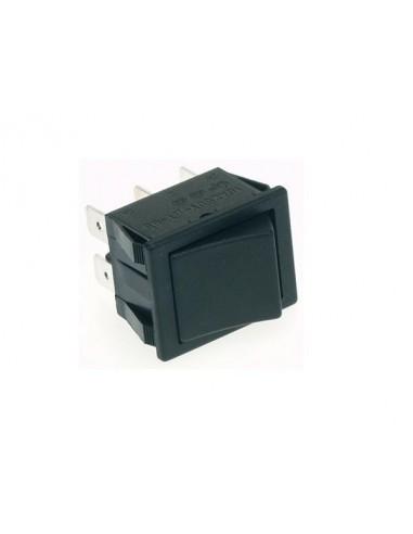 Interrupteur de puissance a bascule 10a-250v dpdt on-on - capuchon noir