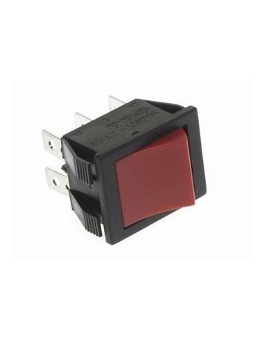 Interrupteur de puissance a bascule 10a-250v dpdt on-off - capuchon rouge