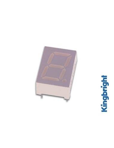 Afficheur 7 segments 10mm cathode commune - vert