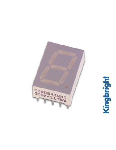 Afficheur 7 segments 13mm cathode commune - vert