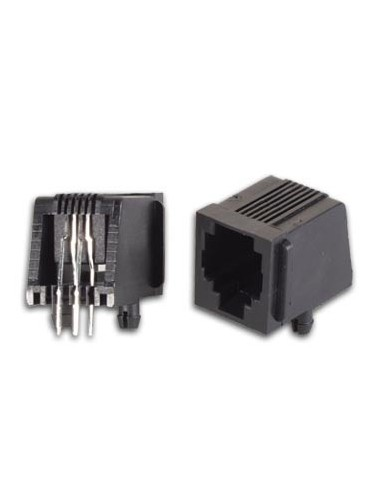25 connecteurs modulaires pour ci rj12 6p4c, version coude