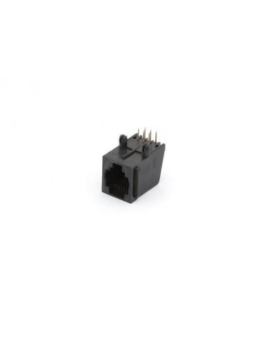 25 connecteurs modulaires pour ci rj12 6p6c, version coude