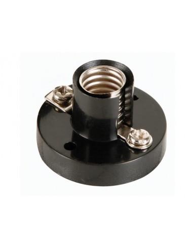 Ac lamp socket, e10, black - 10 pièces