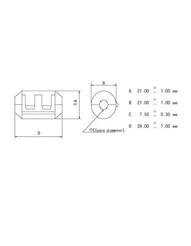 Filtre pour cables ø7.5mm