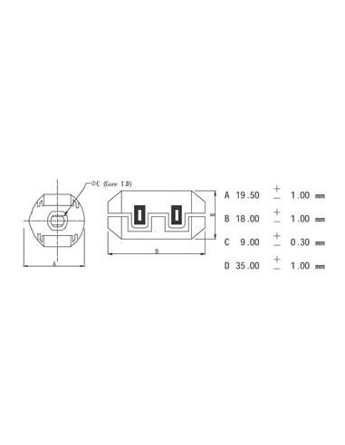 Filtre pour cables ø9.0mm