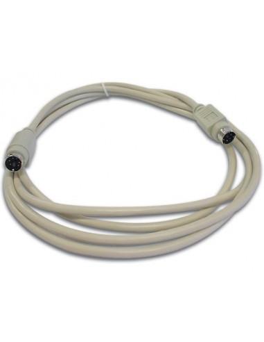 Cable clavier ps/2 mini-din6 male - mini-din6 male / 2m