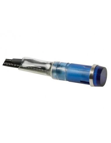 Voyant rond 9mm 220v bleu