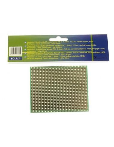 Eurocard a bande cuivree - 100x80mm - fr4 (1pc/bl)