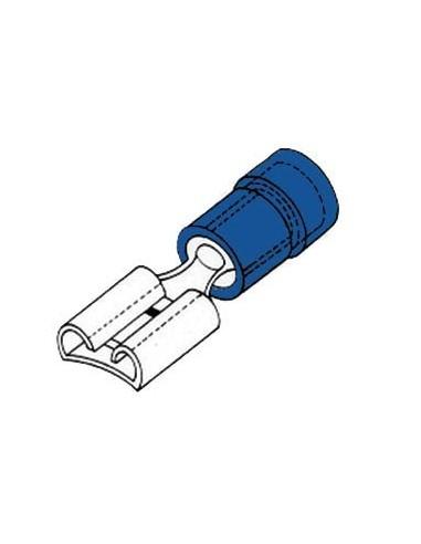 Cosse femelle 4.8mm bleu