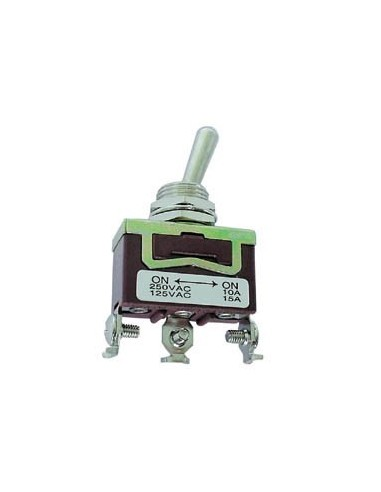 Inverseur unipolaire a levier (on)-off-(on) 10a/250v