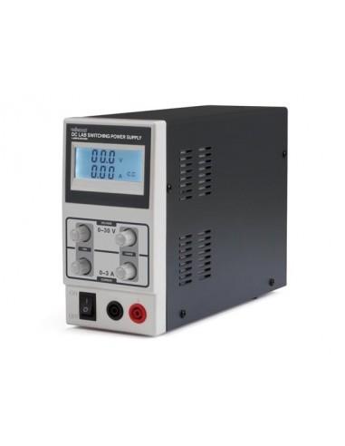 Alimentation de laboratoire à découpage 0-30 vcc / 0-3 a max / avec afficheur lcd