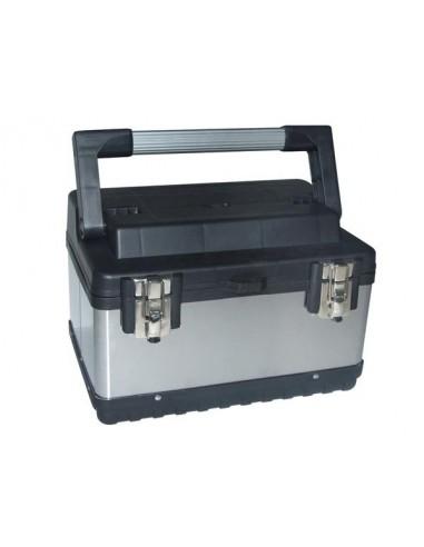 Boîte à outils - acier inoxydable - 380 x 270 x 225 mm