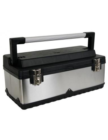 Boîte à outils - acier inoxydable - 590 x 280 x 255 mm
