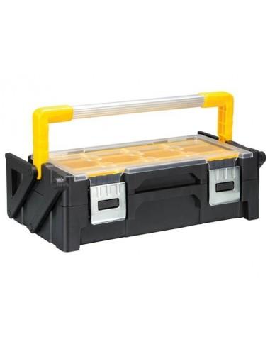 Boîte à outils en plastique avec bacs amovibles