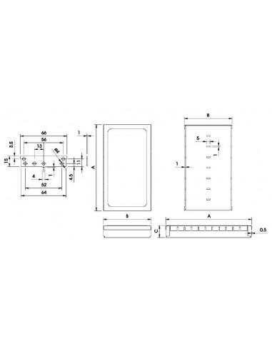 "Coffret rfi ""low modular"" - 82.5 x 68 x 17mm"