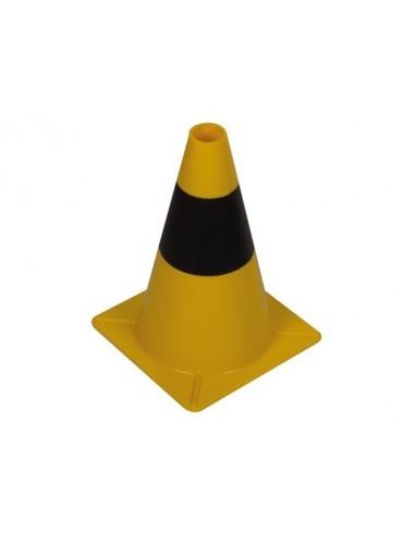 Cône jaune/noir 30 cm