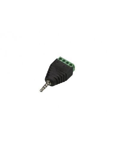 Fiche stéréo 2.5 mm vers connexion à vis 4 broches (5 pcs)