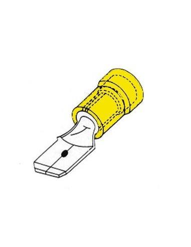 Cosse male 6.4mm jaune