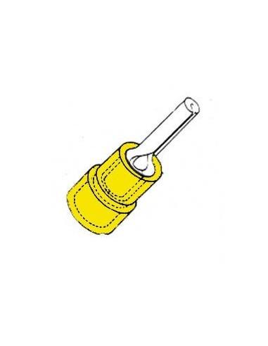 Cosse femelle cylindrique jaune
