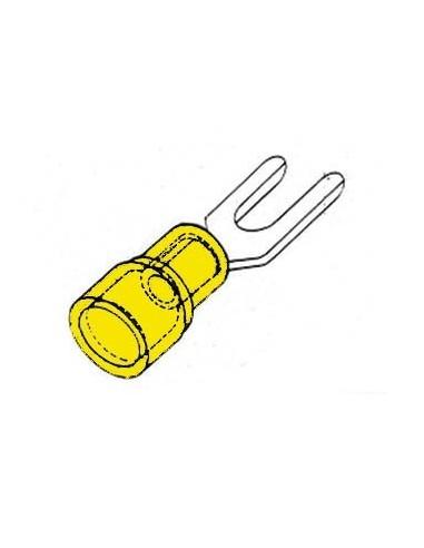 Cosse a fourche 6.4mm - jaune