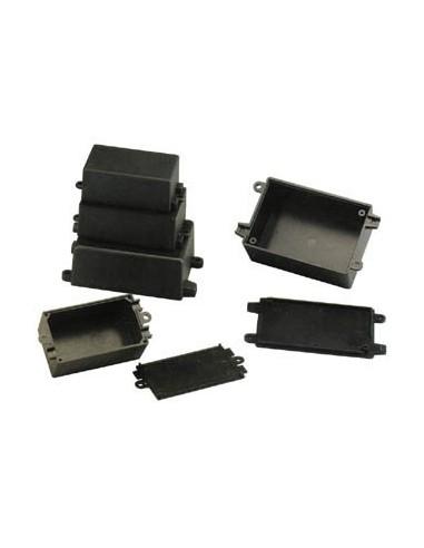Coffrets à trous de montage et de cables - noir 65 x 38 x 27mm