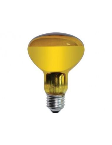Spot couleur disco - jaune 60w / r80
