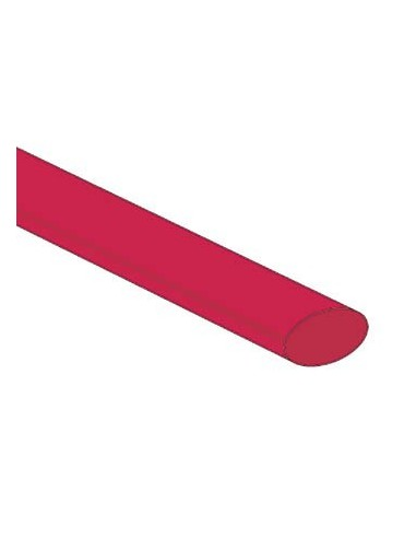 Gaine thermoretractable 2:1 - 9.5mm - rouge - 25 pcs.