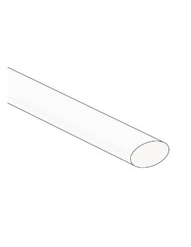 Gaine thermoretractable 2:1 - 9.5mm - blanc - 25 pcs.