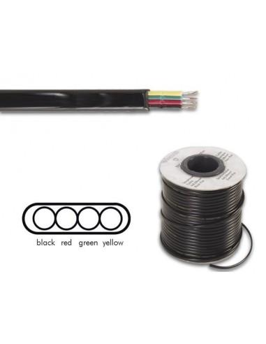 Cable téléphonique 4 x 0.08 mm - noir, plat