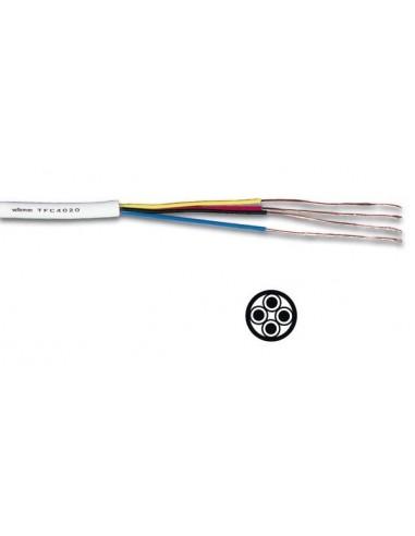 Cable téléphonique 4 x 0.20 mm - blanc, rond