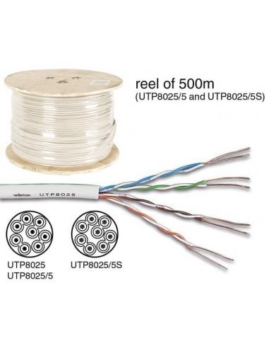 Cable utp cat5e 4 x 2 x 0.51 mm  ivoire / 4 paires torsadées -100 m