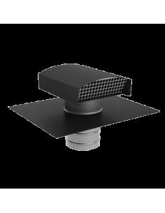 Sortie de toiture VMC 160 mm ALDES , en galva pour ardoise noire