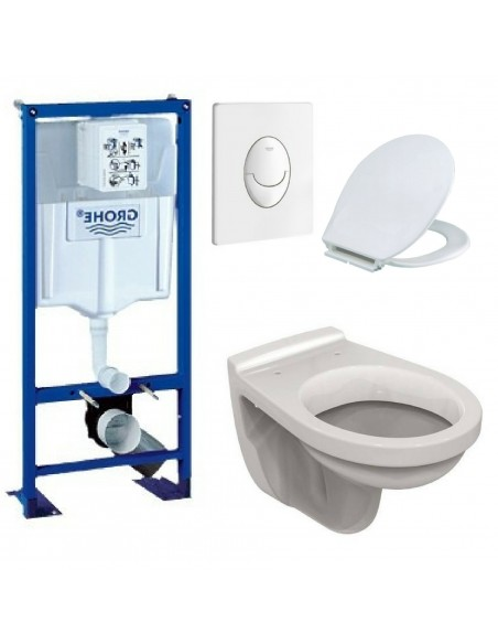 Bati support ulysse wc suspendu grohe plaque blanche